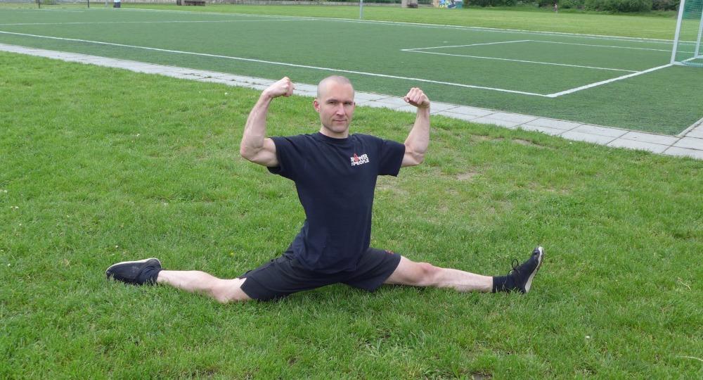 practicing in the park - flexible steel